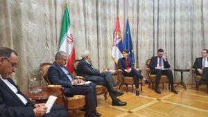 عکس/ دیدار ظریف با نخست وزیر صربستان