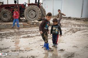 عکس/ حالوروز کودکان زلزلهزده کرمانشاهی