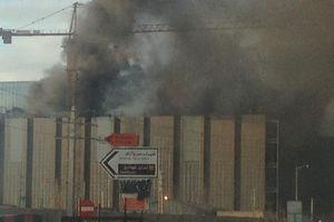 آتش سوزی در منطقه 22 تهران