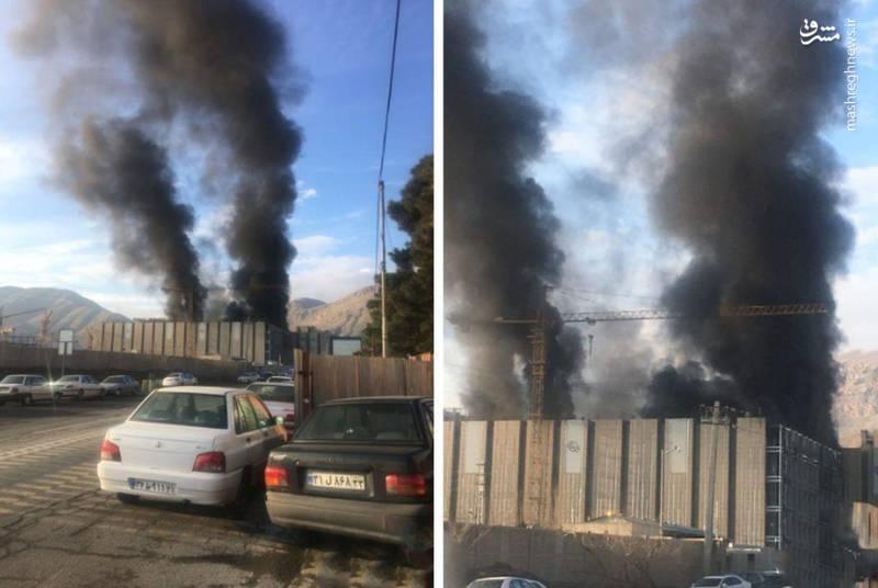 آتش سوزی در ساختمان ایران مال