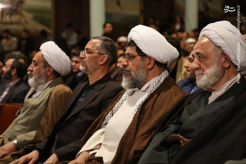 حجت الاسلام علی شیرازی نماینده ولی فقیه در نیروی قدس سپاه (نفر وسط)