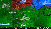 حملات تروریست ها به دروازه غربی شهر سلمیه +نقشه