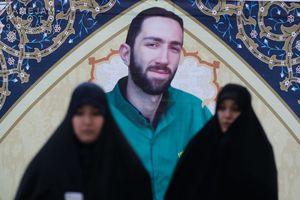 عکس/ مراسم ختم شهید بسیجی خیابان پاسداران