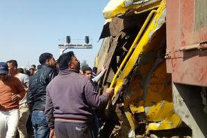 عکس/ برخورد مرگبار دو قطار مسافربری در مصر
