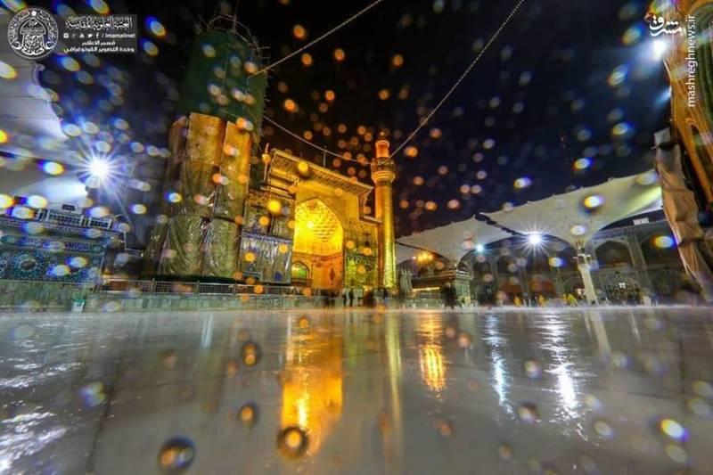 بارش باران در حرم حضرت امیرالمومنین علی (ع)