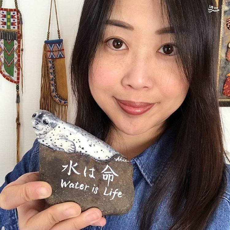 «آکیه ناکاتا» هنرمند و نقاش ژاپنی