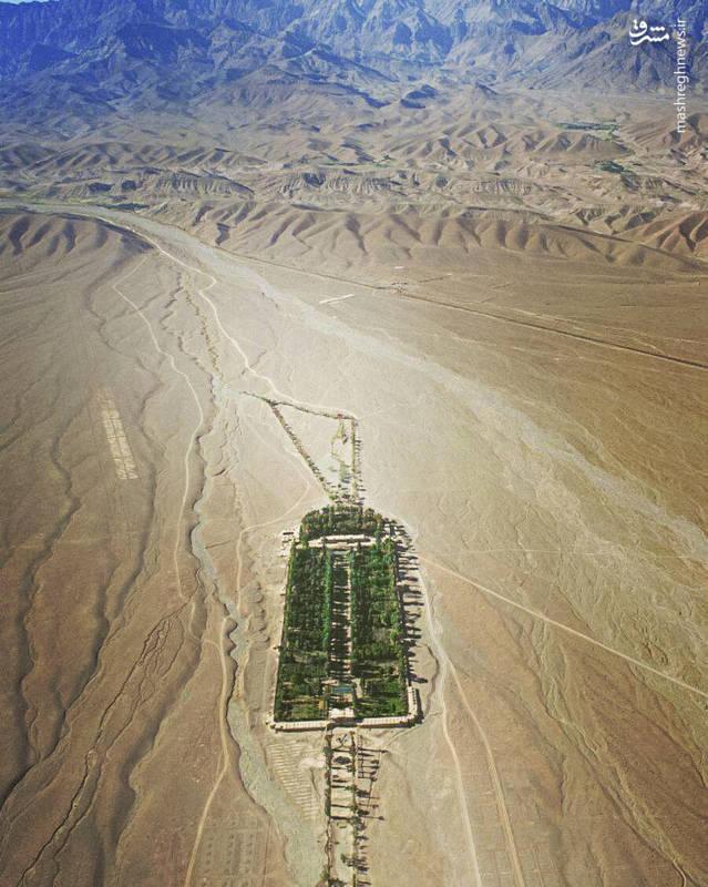 عکس هوایی از باغ شاهزاده ماهان