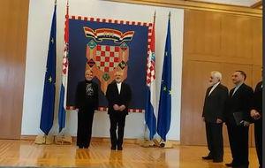 فیلم/ دیدار ظریف با رئیسجمهور کرواسی