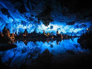 عکس/ غار علیصدر، بزرگترین غار آبی جهان