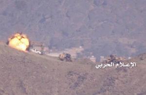 حمله موشکی نیروهای یمنی به مواضع شبه نظامیان سعودی