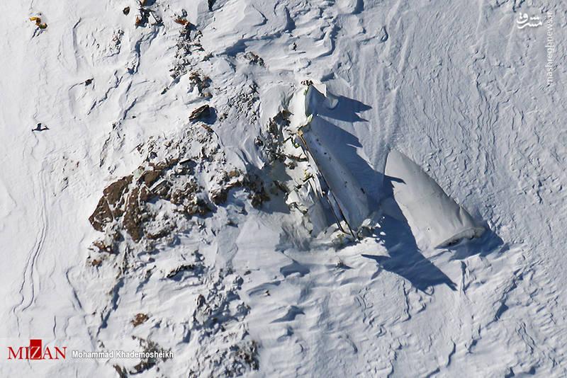 لاشه هواپیمای مسافربری آسمان