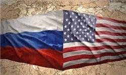 پرچم آمریکا و روسیه نمایه