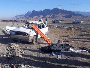 واژگونی مرگبار خودروی پراید
