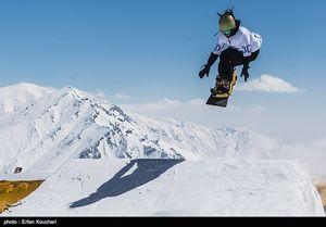 عکس/ مسابقات پرش نمایشی اسکی در تهران