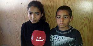 عکس/ دو کودکی که از دست تروریستها جان سالم به در بردند