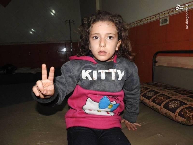 مجروح شدن دختر بچه سوری براثر حمله تروریست ها در شمال سوریه