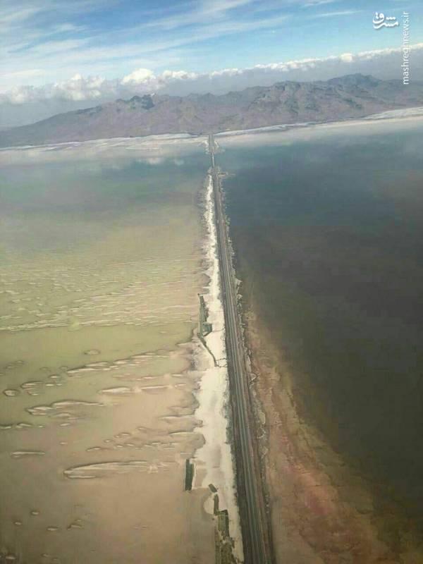 تصویری جدید از دریاچه ارومیه