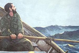 عکس/ نقاشی آخرین سفرِ سرداری که در «دجله» گم شد