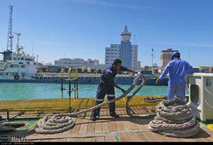 مانور نجات دریایی و هوایی در آب های بوشهر