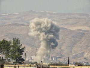 عکس/حضور خمپاره غول آسا در نبرد غوطه