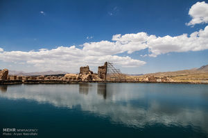 عکس/ دریاچهای اسرارآمیز در آذربایجانغربی
