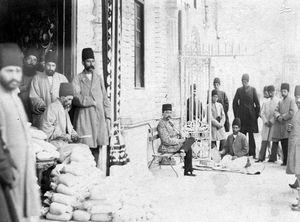 عکس/ شمارش مالیات در حضور ناصرالدین شاه