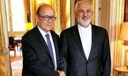 دیدار ظریف با وزیر خارجه فرانسه در تهران