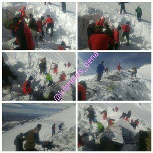 عکس/ تلاش بیوفقه امدادگران در ارتفاعات دنا