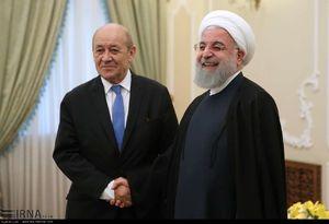 ديدار وزير خارجه فرانسه با روحاني