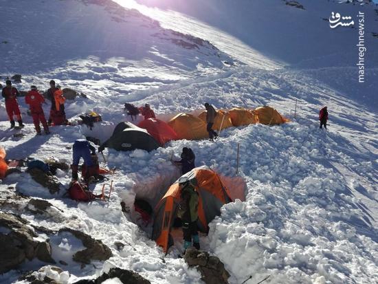 عکس/ کمپ کوهنوردان در ارتفاعات دنا