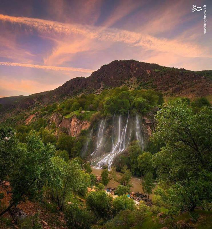 طبیعت زیبا و بکر آبشار  بیشه دورود
