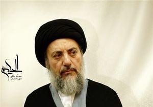شهید حکیم در حرم امام علی +عکس