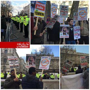 عکس/ معترضان لندنی به سفر بن سلمان