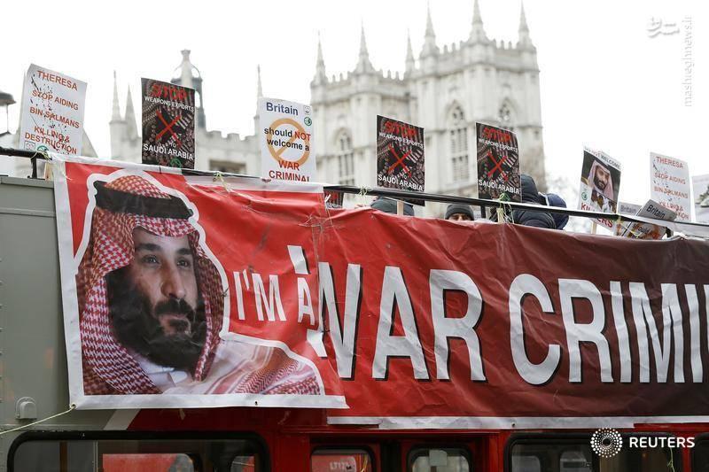 فعالان مدنی به فروش سلاح توسط انگلیس به رژیم سعودی معترض بودند.
