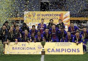 بارسلونا فاتح سوپرجام کاتالونیا