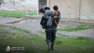 حمله جدید تروریستهای غوطه شرقی به کاروان غیر نظامیان +عکس