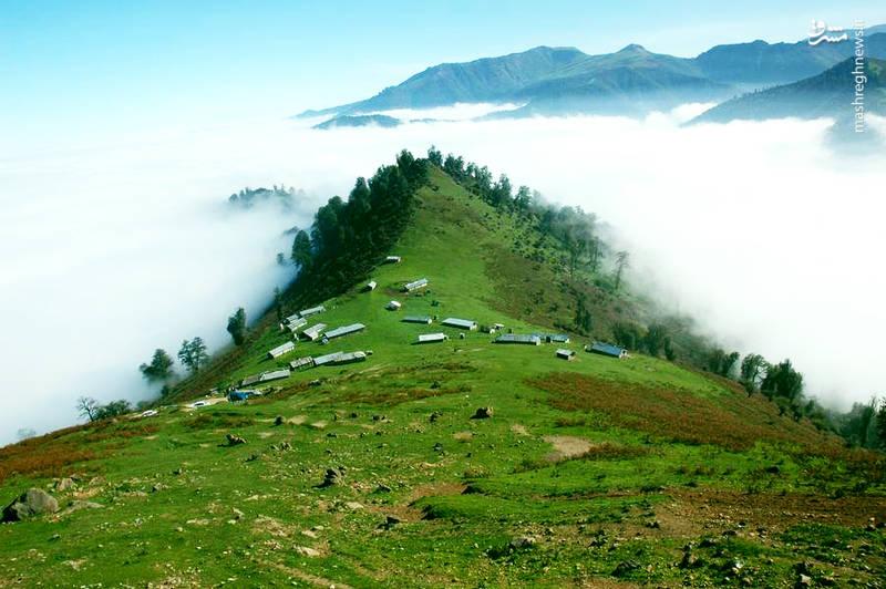 ییلاق رویایی بر فراز ابرهای گیلان