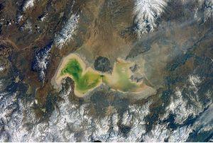 عکس فضایی جدید از دریاچه ارومیه