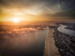 عکس/ غروب زیبای آفتاب در ساحل کالیفرنیا
