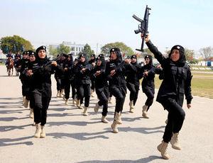 عکس/ رژه زنان پلیس پاکستان