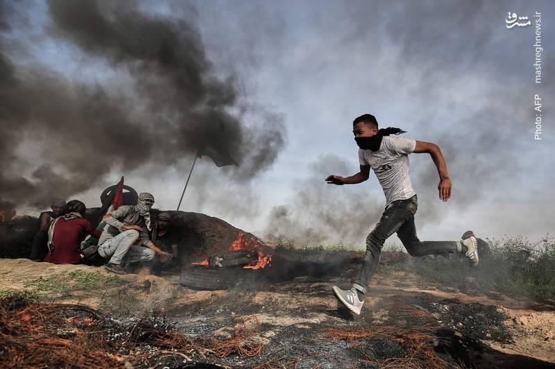درگیری فلسطینیان با ارتش اسرائیل در غزه