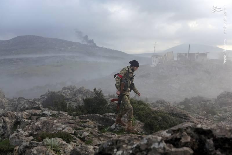 تداوم جنگ عفرین در مرز سوریه و ترکیه با حمایت آنکارا از نیروهای موسوم به ارتش آزاد