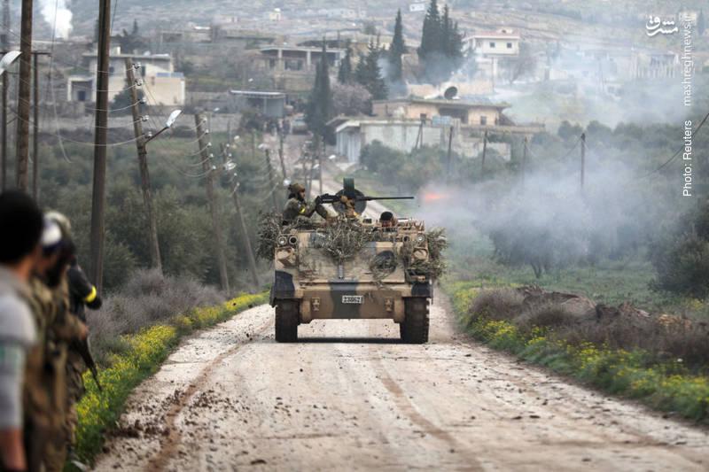 تیراندازی یکی از نیروهای موسوم به ارتش آزاد در شهر راجو سوری