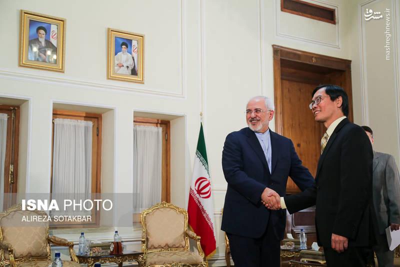 ملاقات خداحافظی سفیر ویتنام با محمد جواد ظریف