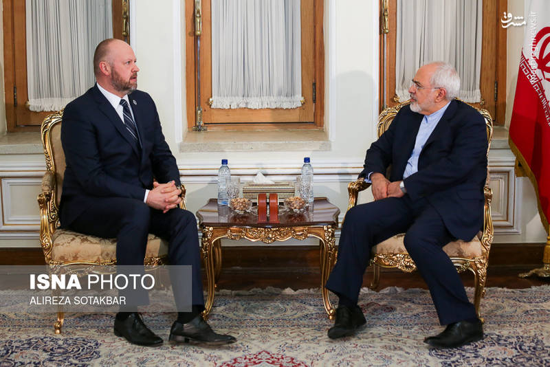 دیدار رییس جدید دفتر unodc در تهران با محمدجواد ظریف