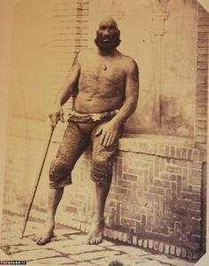 عکس/ قویترین مرد ایران در زمان قاجار