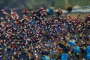 عکس/ بازار ساحلی ماهی فروشان ویتنامی