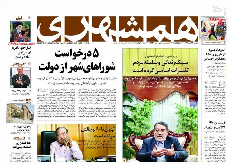 همشهری: 5درخواست شوراهای شهر از دولت