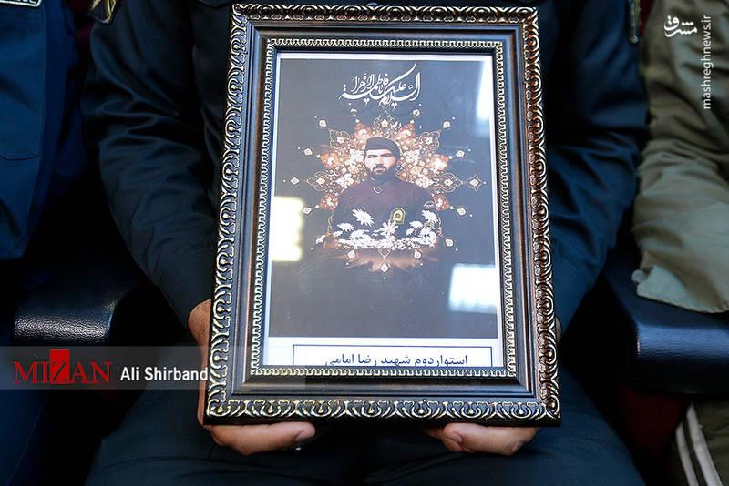 تصویر شهید رضا امامی از شهدای حادثه خیابان پاسداران