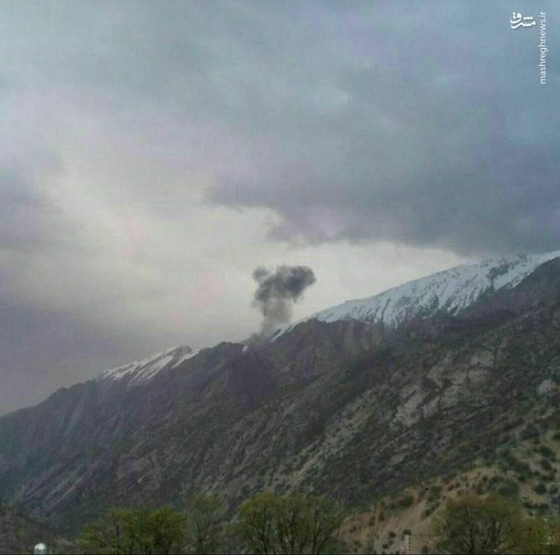 تصویری از اولین دقایق سقوط هواپیمای خطوط هوایی ترکیه در اطراف روستای دورک